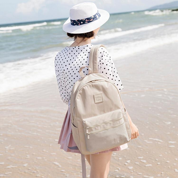 文青款學生背包學生書包旅行後背包--夏日時光