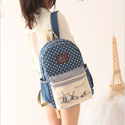 韓版風車系列後背包 旅行背包 學生書包 手提包包 --夏日時光 (6.7折)