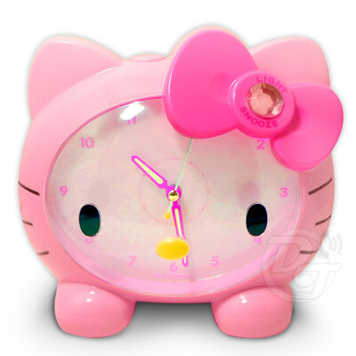 Hello Kitty臉蛋造型音樂貪睡鬧鐘 JM-E890-KT (9折)