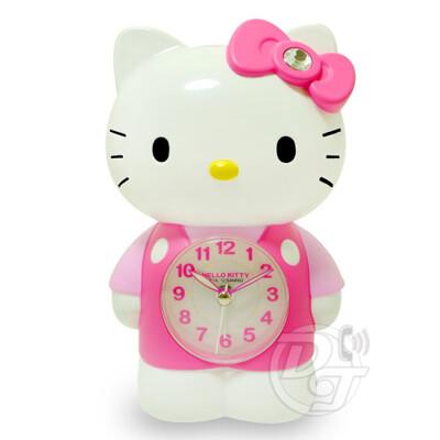 Hello Kitty凱蒂貓/可愛立體公仔玩偶/LED夜燈/貪睡音樂鬧鐘/JM-E899KT (7.6折)