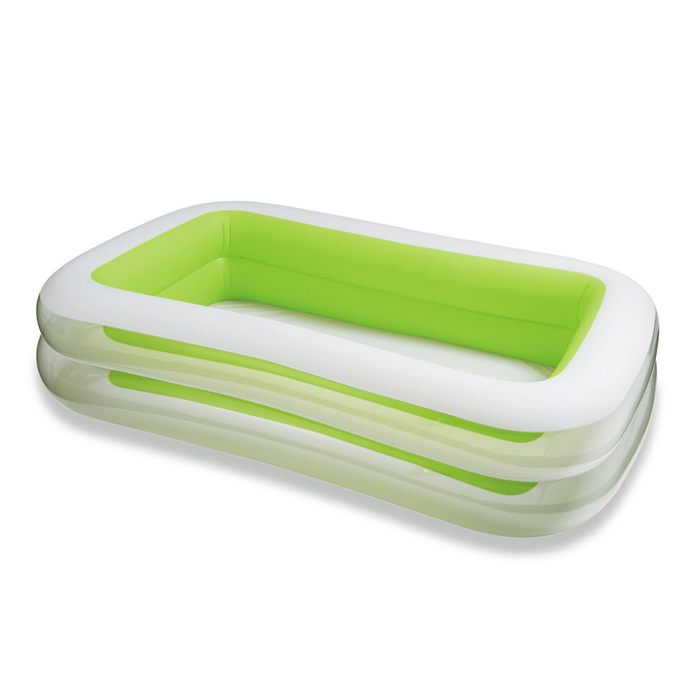 intex長方型綠色透明游泳池