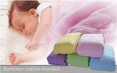 外銷歐美100%純棉大條洞洞毯(大人小孩都適用) (2.8折)