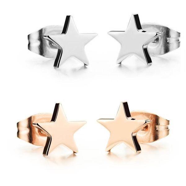 韓版星星造型白鋼耳環 一對價-eks297