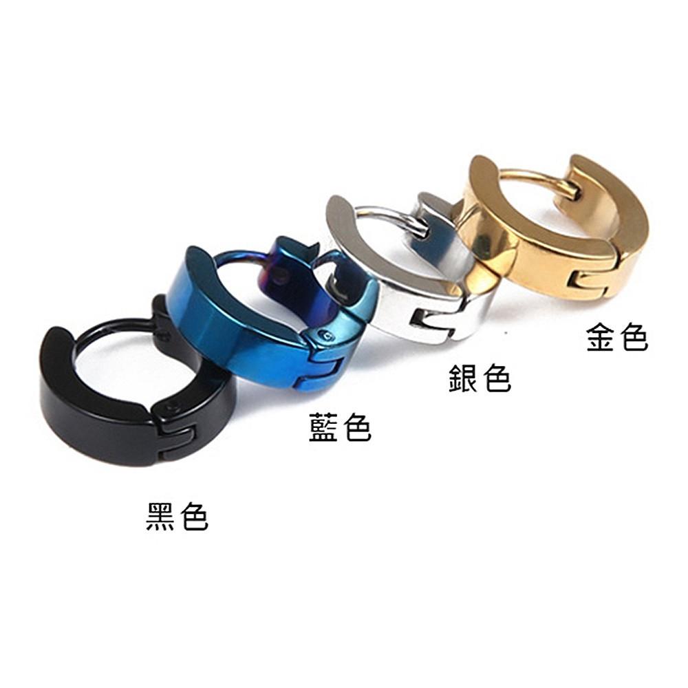 c扣光滑面白鋼耳環-ezs00172