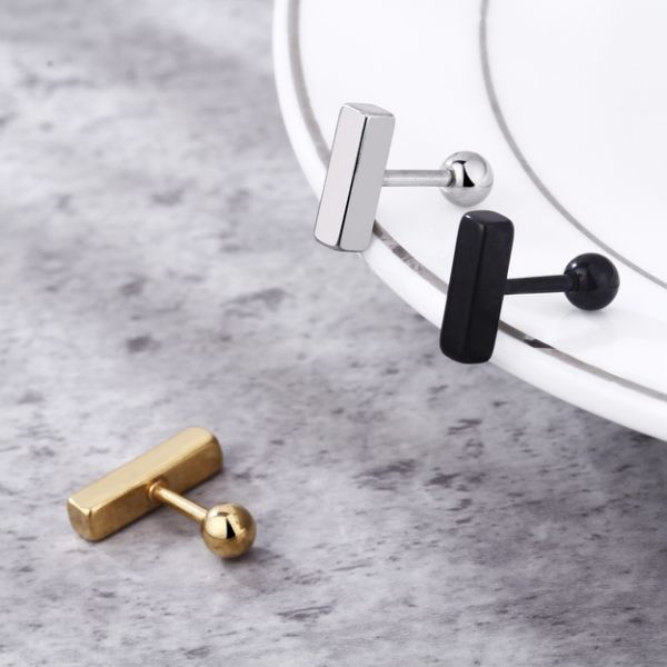 幾何造型白鋼耳環 單個價-ecs092