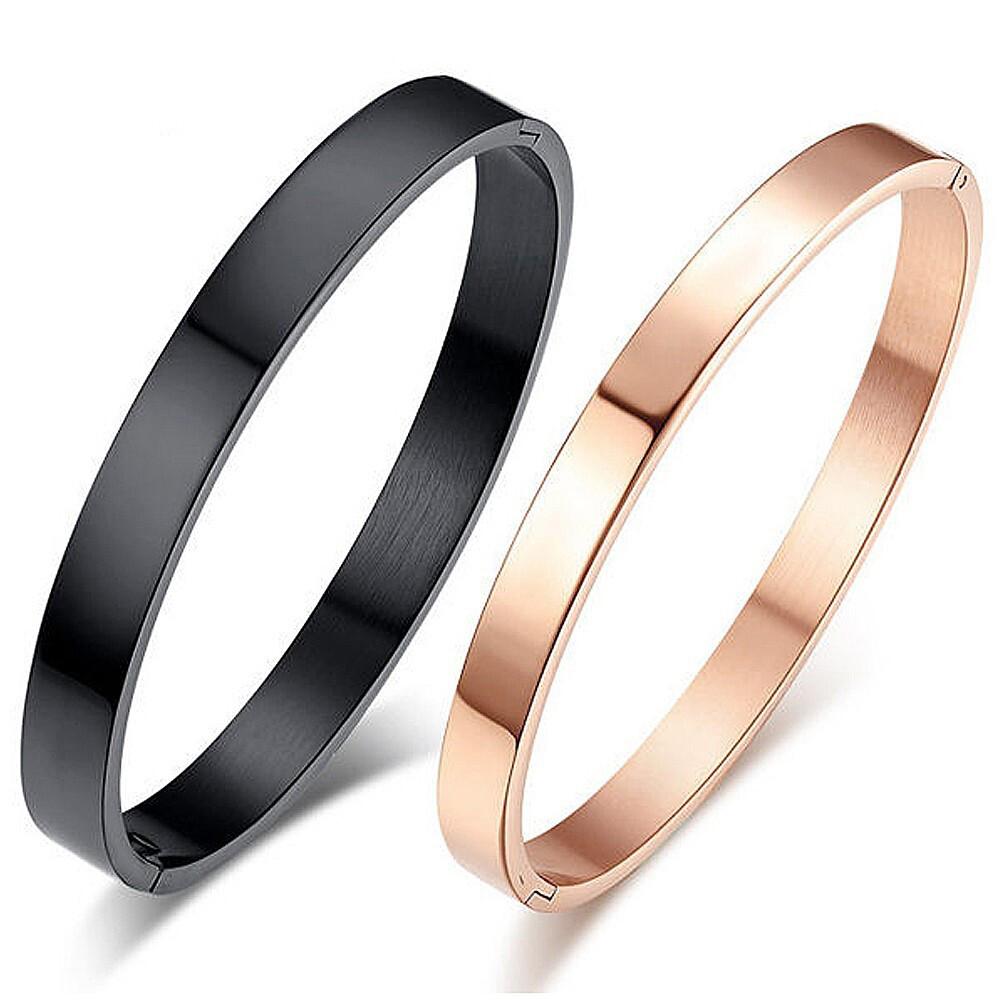素面情侶白鋼手環-cpy002