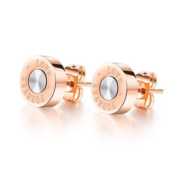 韓版love造型白鋼耳環 一對價-eks329