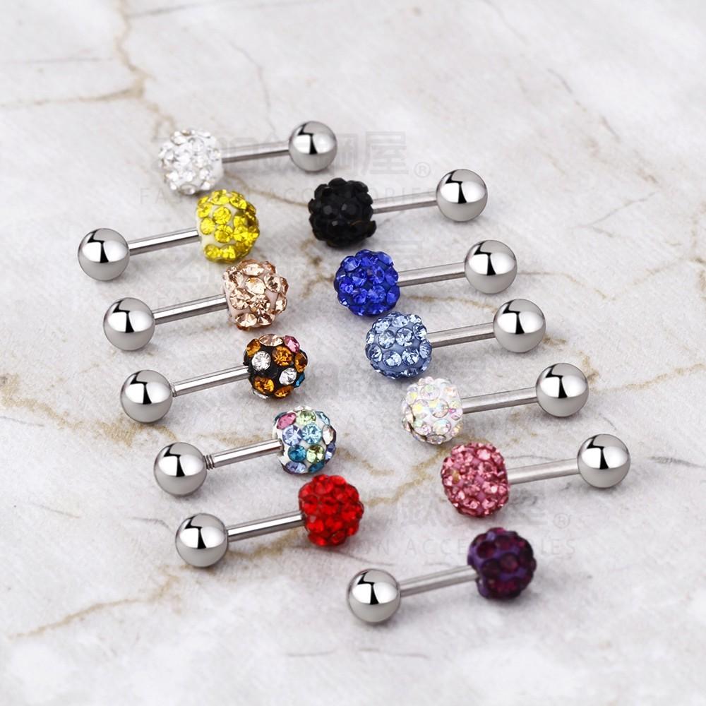 女性圓型多鑽造型白鋼耳環-ecs085