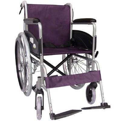 【海夫健康生活館】杏華 鋁合金 24吋後輪 輕型輪椅 (紫) (6.8折)