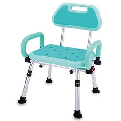 【海夫健康生活館】PE雙掀扶手有背洗澡椅 (7.1折)