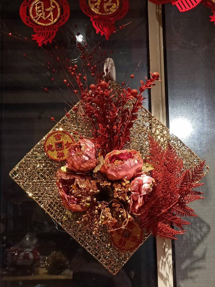 春節新年擺飾佈置-花開富貴