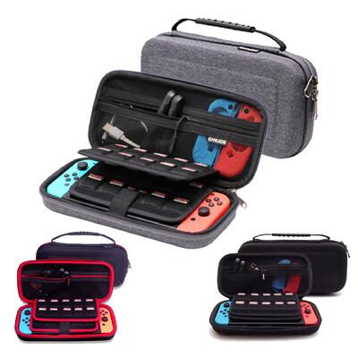 任天堂 switch 硬殼收納包 可立架 保護殼 防震防摔 防潑水 可裝充電器/手把/遊戲卡 (5.5折)