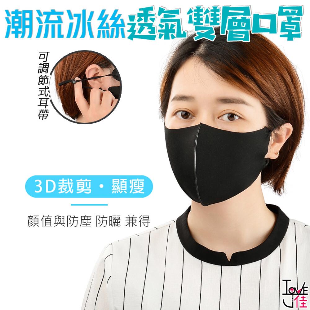 [台灣現貨] 愛佳 立體防塵透氣口罩/印花冰絲口罩/無痕透氣孔口罩 無痕透氣 環保 可水洗