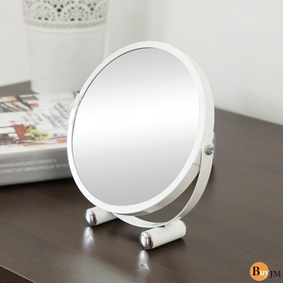 BuyJM時尚優雅2倍放大雙面化妝鏡/桌上鏡 (5.8折)