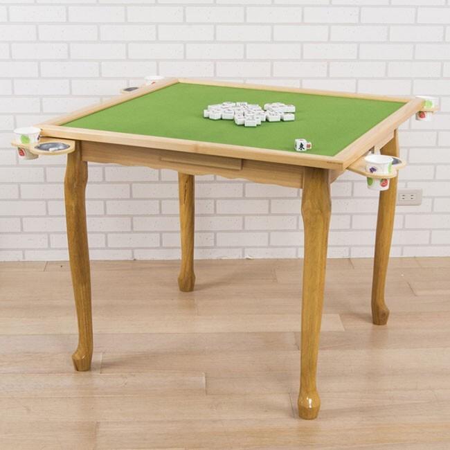 buyjm 實木麻將桌(兩色可選) w-fh-ta014 兩用桌 方便桌 邊桌