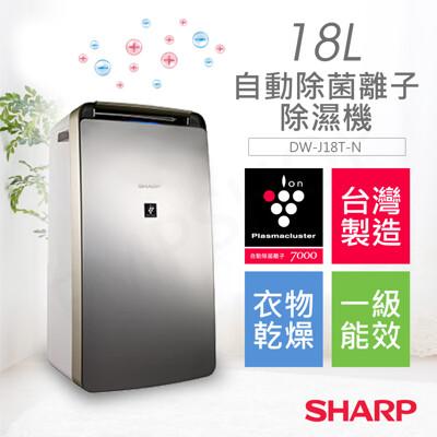 【夏普SHARP】18L自動除菌離子除濕機 DW-J18T-N (9折)