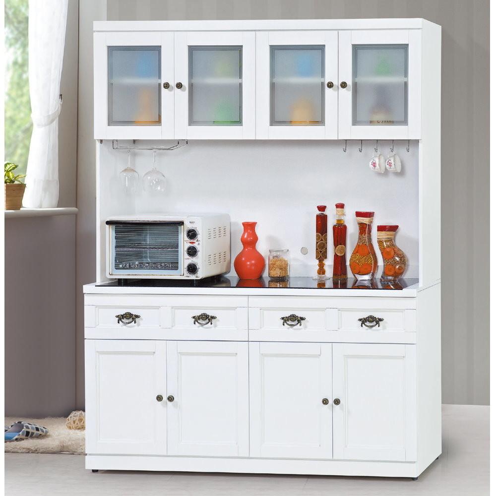 muna羅拉特白色5尺餐櫃(全組)(另有胡桃色)