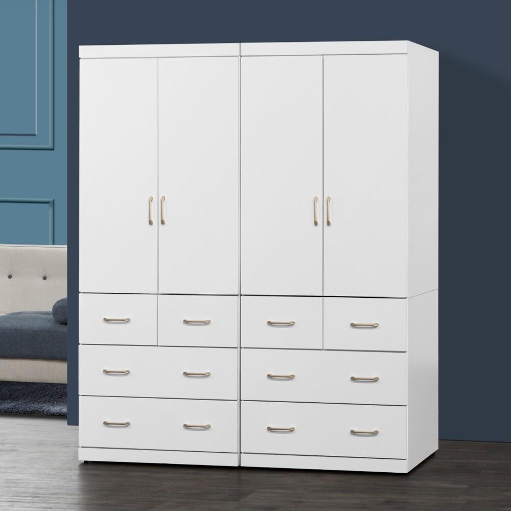 muna阿諾德 5.4 x 7尺白色衣櫥/衣櫃