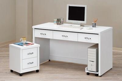 【MUNA】馬克斯白色5尺書桌(不含活動櫃和主機架) (6.1折)