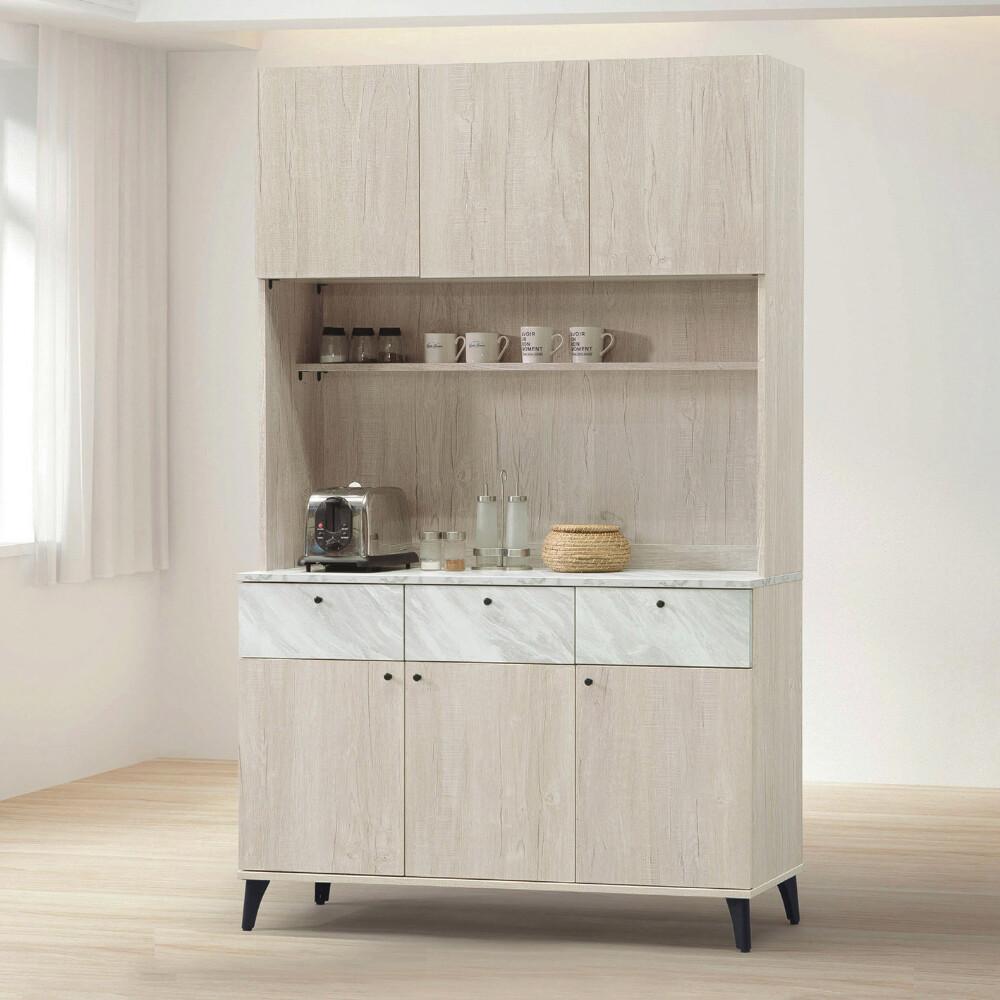 muna白橡色4尺餐櫃/碗盤櫃(全組)(b302)