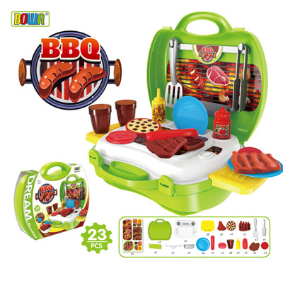 【17mall】多功能家家酒兒童玩具-仿真手提收納BBQ燒烤爐烤肉組 (2.6折)