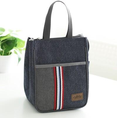大容量加厚牛津布長型手提便當袋 餐盒袋 手提袋 保溫袋 手提保溫袋 (5.8折)