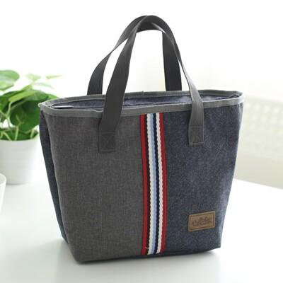 大容量加厚牛津布梯型手提便當袋 餐盒袋 手提袋 保溫袋 手提保溫袋 (5.8折)