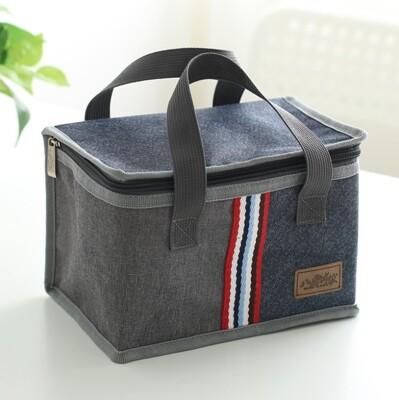 加厚牛津布方形手提便當袋 餐盒袋 手提袋 保溫袋 手提保溫袋 (5.9折)