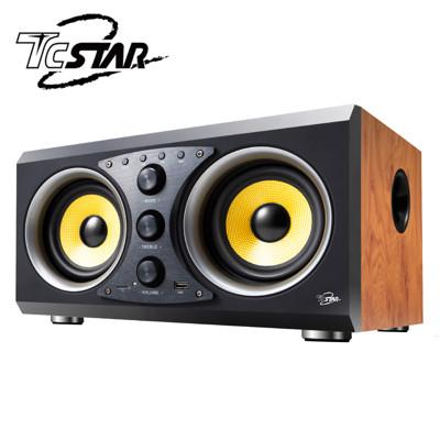T.C.STAR 多功能藍牙/USB木箱喇叭/木紋 TCS3100WD (6.6折)