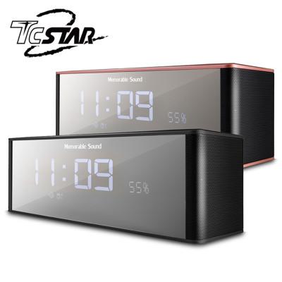 T.C.STAR 電鍍鏡面插卡帶鬧鐘FM多功能藍牙喇叭 / TCS1130 (5.8折)