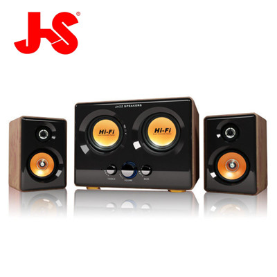 JS 淇譽電子-震天雷 雙低音全木質多媒體喇叭 JY3241 (6.4折)