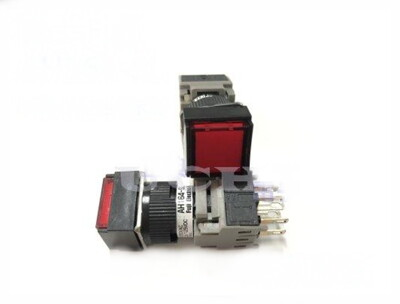 富士 Fuji AH164-SL 無段 正方型照光按鈕開關 指示燈 紅色 自動控制 (7.2折)