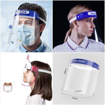 多功能高清透明防疫面罩 防疫人員 醫護人員 餐飲業服務業面罩  頭戴式透明防護面罩