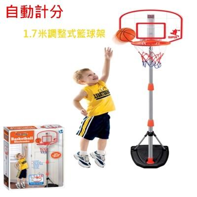 籃球架 1.7米 電子計分 兒童籃球架 升降籃球架 計分籃球架 可調式 電子計分板 籃球框 投籃機 (3.9折)