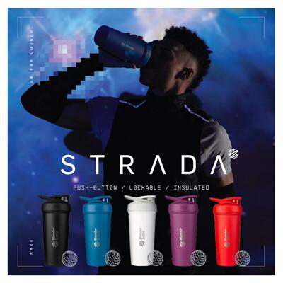 【Blender Bottle】熱銷新品贈乳清|卓越搖搖杯〈Strada不鏽鋼款〉24oz|5色可選 (8.1折)