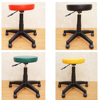 皮革簡約旋轉升降圓凳 工作椅 (4.8折)