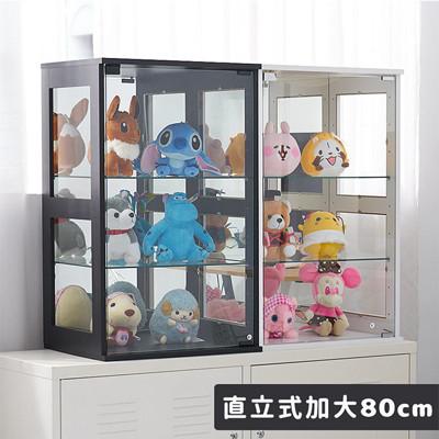 凱堡 加大款模型櫃 展示櫃 收納櫃 公仔展示櫃深度40cm直立80cm 台灣製【B14079】 (4.5折)