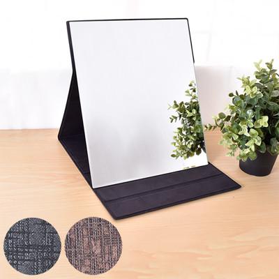 凱堡 格紋化妝鏡/摺疊鏡/桌鏡(大型31x26)【H10006】 (4.5折)