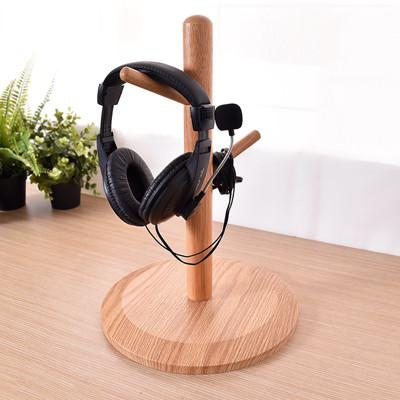 凱堡 簡約木質 耳機架 安全帽架 桌上型掛架【B03061】 (5折)