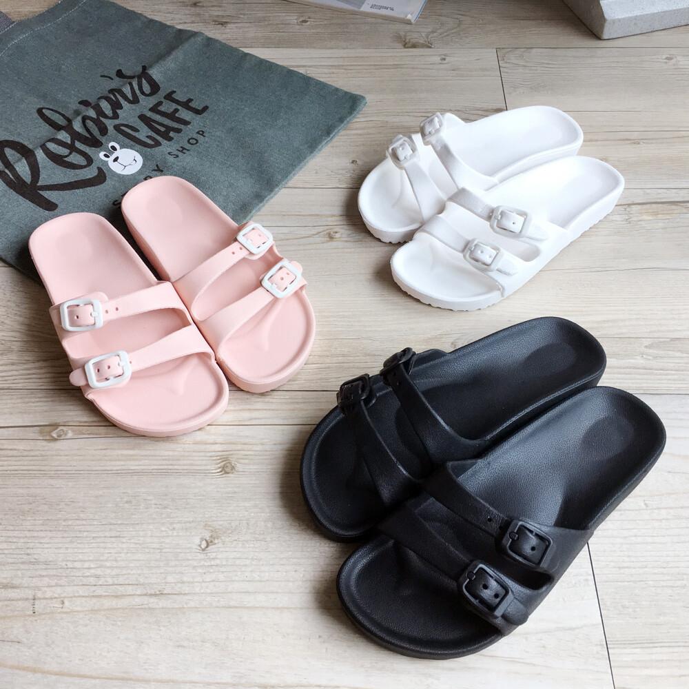 islippers台灣製造-動能系列-輕感雙排扣休閒女拖鞋