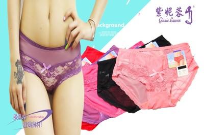 【紫妮蓉】7件組 蕾絲邊低腰三角內褲無痕內褲 (5.8折)