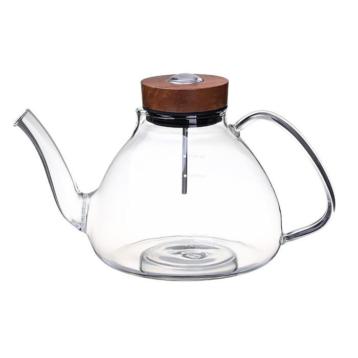 感溫手把燒水壺-(1200ml) 玻璃茶壺 玻璃燒水壺 耐熱