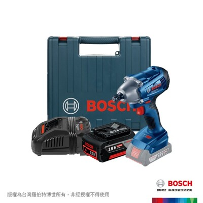 【BOSCH 博世】18V鋰電衝擊板手機 GDS250-LI套裝組4.0Ah (7.7折)