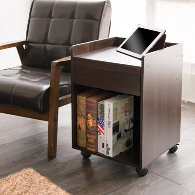 日雜森林系單抽床頭櫃 活動櫃 書櫃 邊櫃 櫃子 收納櫃 置物櫃 茶几 邊櫃 BO015