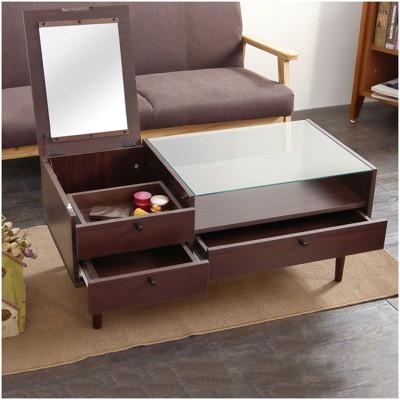 日式掀鏡收納化妝茶几桌/和室桌/咖啡桌 TA036 (5.7折)