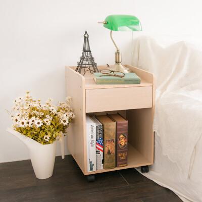 日雜森林系單抽活動櫃 書櫃 邊櫃 茶几 櫃子 收納櫃 置物櫃 床頭櫃  BO015