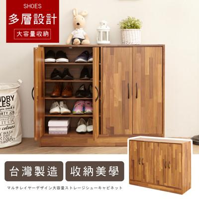 工業風集成木紋四門五層收納鞋櫃-MIT台灣製 SC002 (4折)
