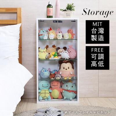 台灣製高80公分低甲醛雙門模型展示櫃 櫃子 收納櫃 置物櫃 公仔櫃 玄關櫃  BO038