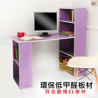 低甲醛馬卡龍雙向書櫃書桌/辦公桌/工作桌/電腦桌 DE016 (6折)