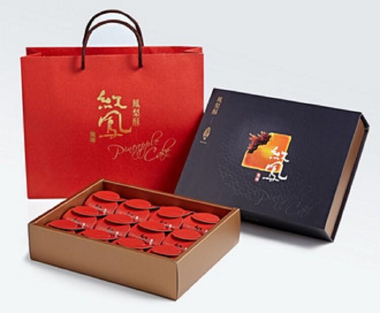 台南紅鳳鳳梨酥禮盒-12入裝